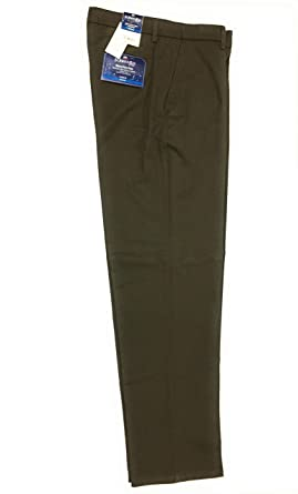 2af24eeeb6 St. John's Bay Pant Navy Classic fit Flat Front Wrinkle Free (Olive, 32X32