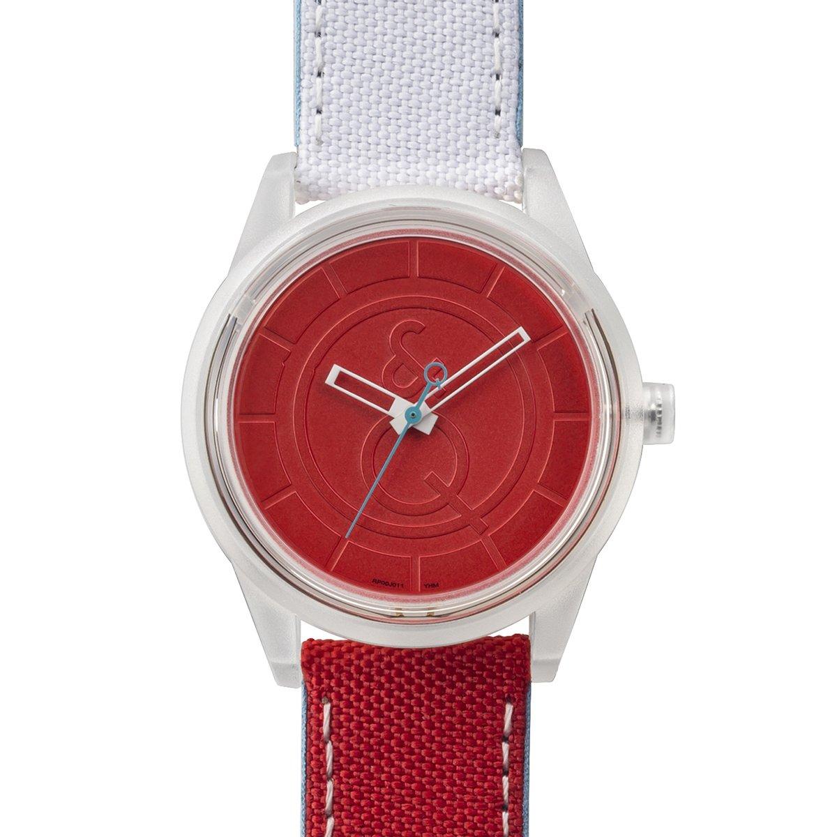 Q&Q SmileSolar - Reloj de cuarzo unisex, con correa de tela, color