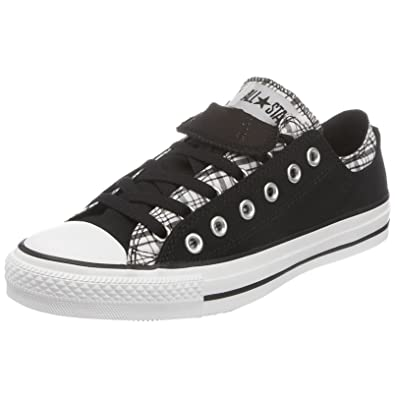 d27764332d3153 Converse Chuck Taylor Allstar Double Upper Camp Plaid Ox Black White 109859  7 UK  Amazon.co.uk  Shoes   Bags