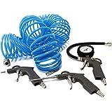 4-tlg Set: Ausblaspistole Reifenfüllpistole Druckluftschlauch