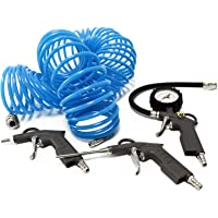 WilTec 4-delige Set: Luchtgereedschap en Accesory Kit voor Compressor