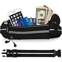 UShake Gear Running Belt, Bounce Free Pouch Bag, Fanny Pack Workout Belt Sports Waist Pack Belt Pouch for Apple iPhone 8 X 7 6 6+ Samsung Note Galaxy in Running Walking Cycling Gym with Extender-01