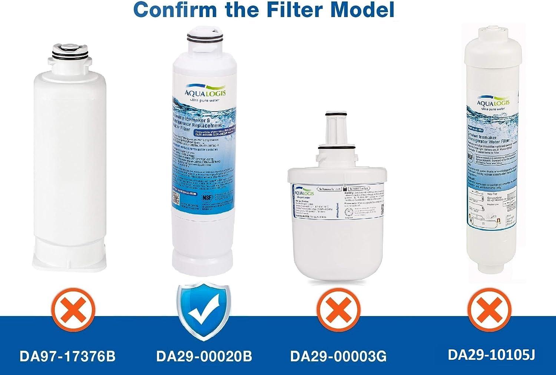 HAF-CIN-EXP HAF-CIN DA29-00020A HAFCIN DA97-08006A-B 4 x AL-020B Replacement Filter For Samsung DA29-00020B