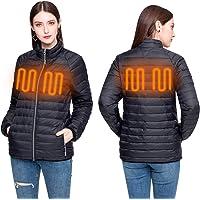 JEMPET Doudoune Manteau d'hiver en Duvet pour Femmes, Manteau zippé avec Batterie, résistance au Froid