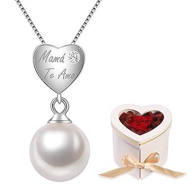 afbdbf317550 Dawanza-Regalos Día de la Madre Collar Mujer de Plata de Ley 925-Colgante