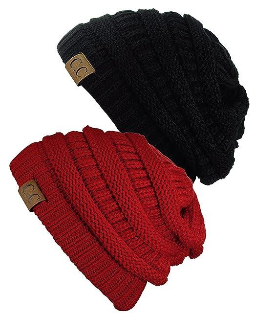 f2e43b258 CC Women's Knit Beanie Cap Hat (2 PACK)