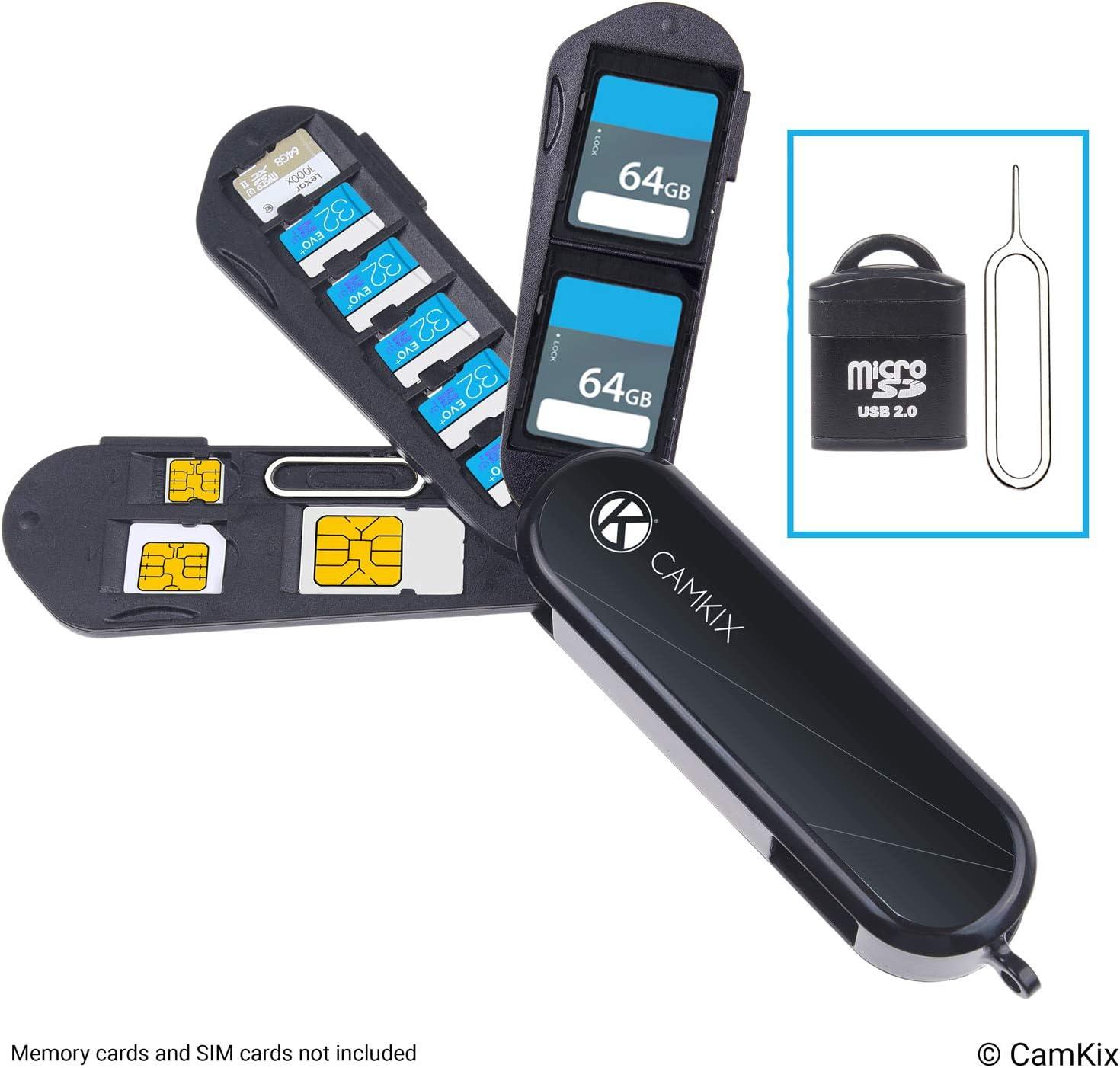 Estuche de Almacenamiento de Tarjeta de Memoria y SIM con Lector Micro SD (USB) y Pin de Expulsión: Amazon.es: Electrónica