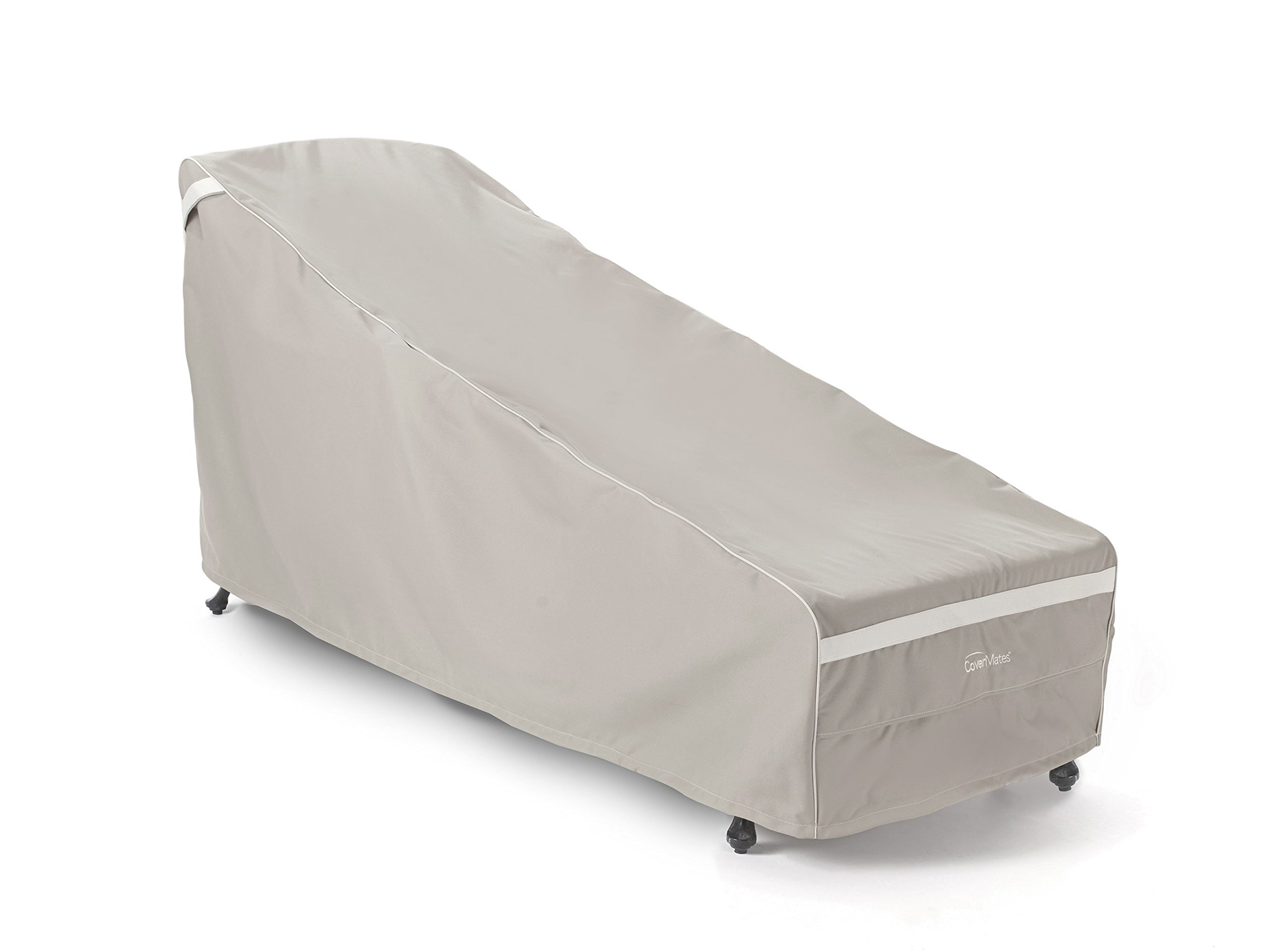 Covermates – Chaise Lounge Cover – 25W x 78D x 30H – Prestige Collection – 7 YR Warranty – Year Around Protection - Clay by Covermates (Image #1)