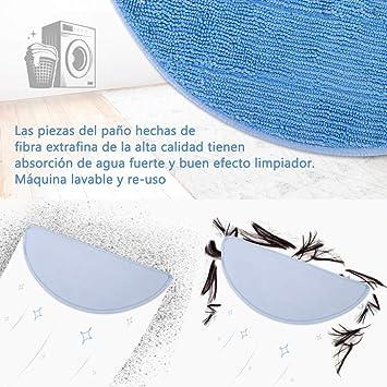 LOETAD Recambios para Cecotec Conga Excellence 990 5 Paños para Aspiradoras 6 Filtros Hepa 6 Espumas: Amazon.es: Hogar