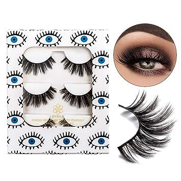 7fbcf52a42e DYSILK 3D Mink Fake Eyelashes Fluffy Ffalse Eyelashes Natural Look Eyelashes  Handmade Extension Thick Long Reusable
