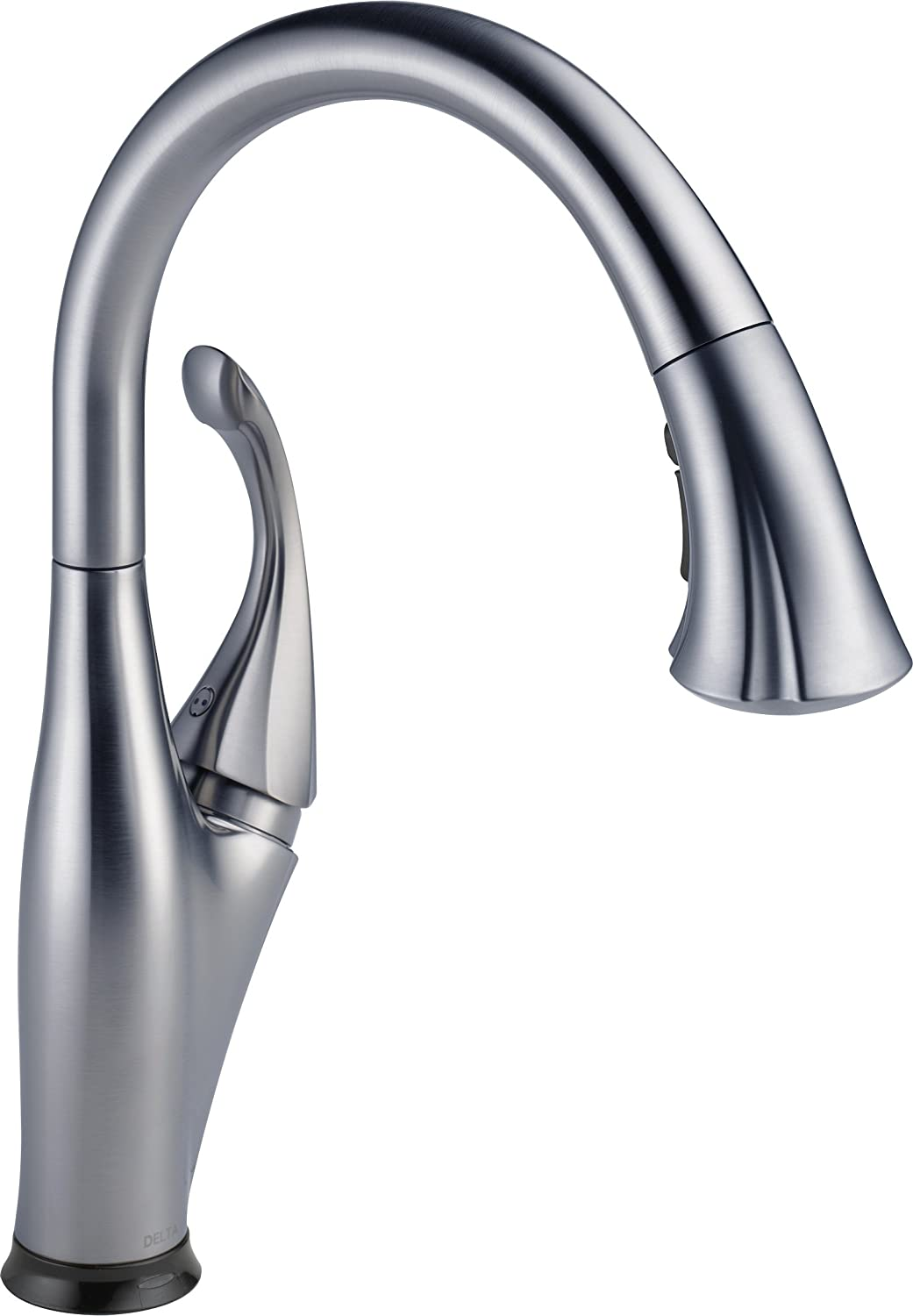 delta faucet 9192tardst addison single handle pulldown kitchen faucet with touch2o technology and magnetic docking arctic stainless touch on kitchen