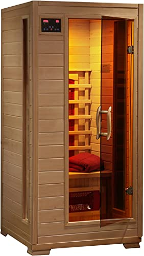 Radiant Saunas BSA2400 1-2 Person Hemlock Ceramic Infrared Sauna