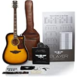 """Keith Urban 50-piece """"PLAYER"""" Acoustic Guitar and 30-Lesson Package - Brazilian Burst"""