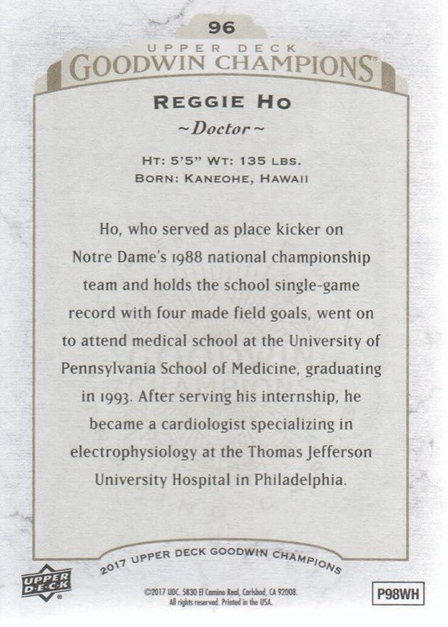 2017 Upper Deck Goodwin Champions #96 Reggie Ho Doctor at