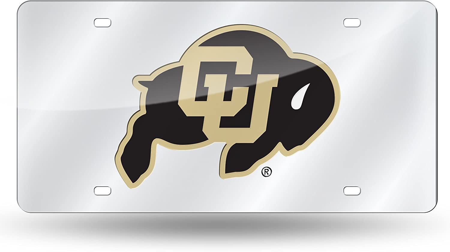 NCAA Rico Industries  Laser Inlaid Metal License Plate Tag Colorado Buffaloes