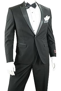 Perry Ellis Men s Two Button Slim Fit Tuxedo at Amazon Men s ... e3bb345f3