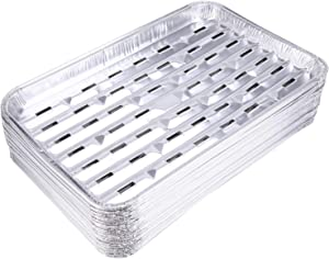 Yesland 30 Pack Disposable Aluminum Foil Pans - 13.4 x 9 x 1.1 Inch Food Containers, Aluminum Sheet Pans for Cooking, Baking, Heating, Storing, Meal Prep, Takeout