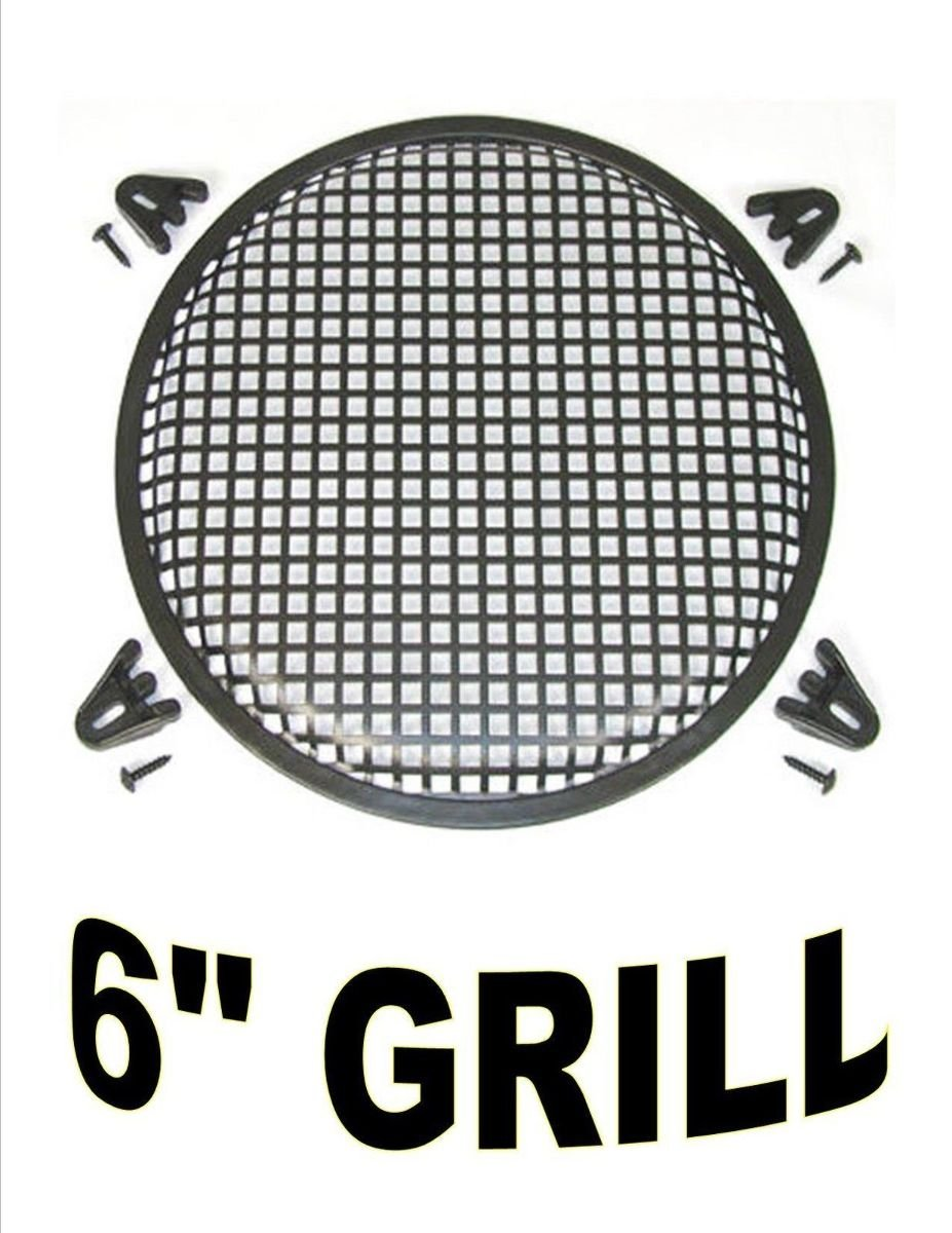 One 6 Inch Subwoofer Mid Range Metal Mesh Waffle Speaker Home Gt Car Audio Amplifier Kit Amp Wiring Audiopipe 10 Ga For Grill Dj Pa Theater