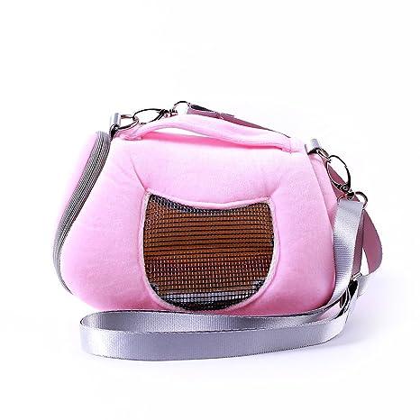 Bolsa de viaje para transportar mascotas, hámster, cama, casa de invierno cálido,