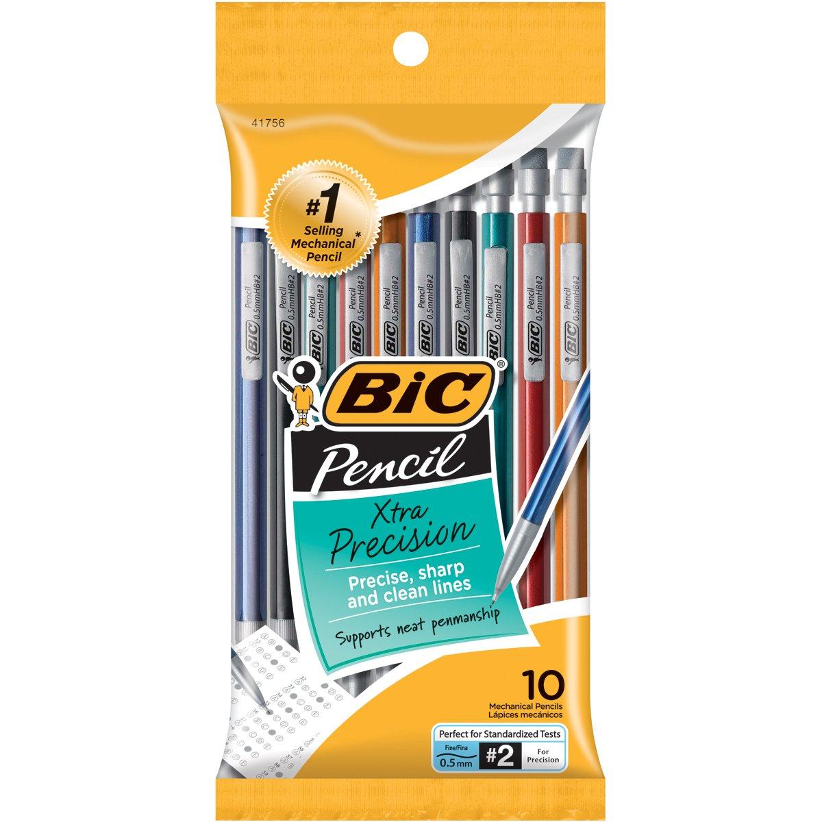 10 Lapices Bic Extra Precision - Lapices Mecanicos