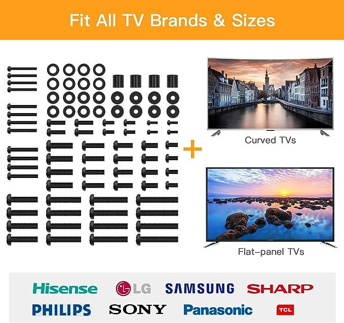 Perlegear Paquete de Equipo de Montaje Universal para TV para Todos los Televisores Hardware Incluye Tornillos M4, M5, M6 y M8, Arandelas y Espaciadores para Televisores y Monitores: Amazon.es: Electrónica