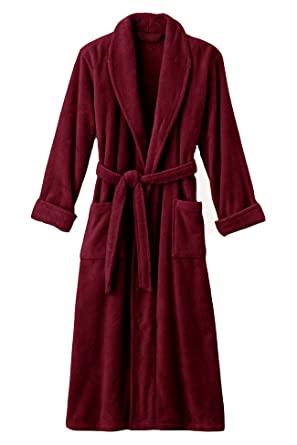 Image Unavailable. Image not available for. Color  Mens Maroon Luxury Terry  Velour Bathrobe 48 quot  Length 100% Cotton d77eef9fd