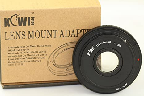 Amazon com : Adapter FD to Canon EOS camera To use FD lenses on