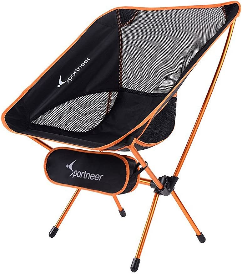 Sportneer Portable Lightweight Folding Camping Chair for Backpacking, Hiking, Picnic
