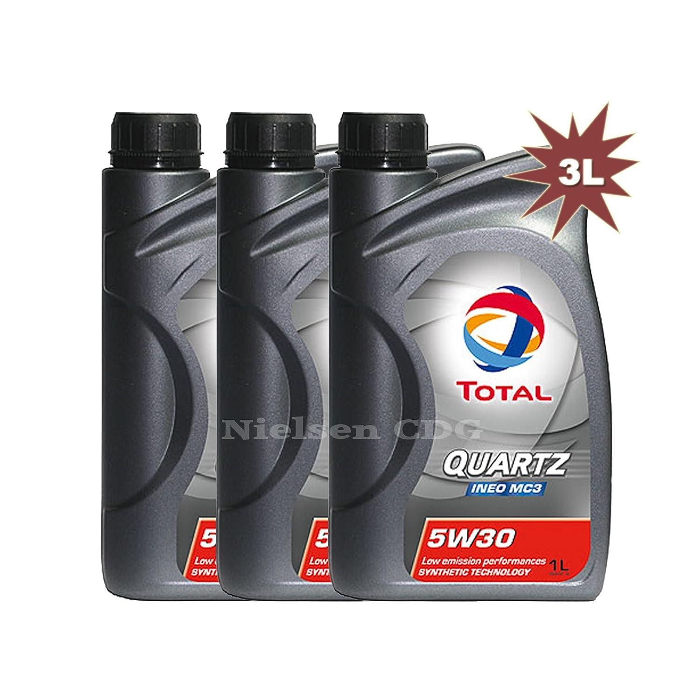 Total Quartz Ineo MC3 5 W30 aceite de motor 3 x 1 litro=3 ...