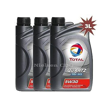 Total Quartz Ineo MC3 5 W30 aceite de motor 3 x 1 litro=3 Litros: Amazon.es: Coche y moto