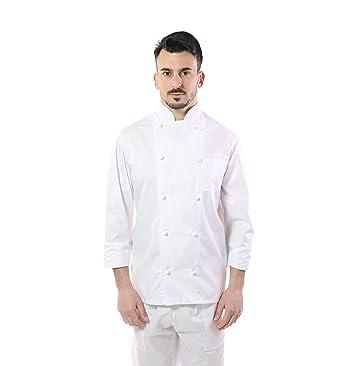 Giacca chef bianca donna con ricamo divise cuoco pantaloni  da cucina