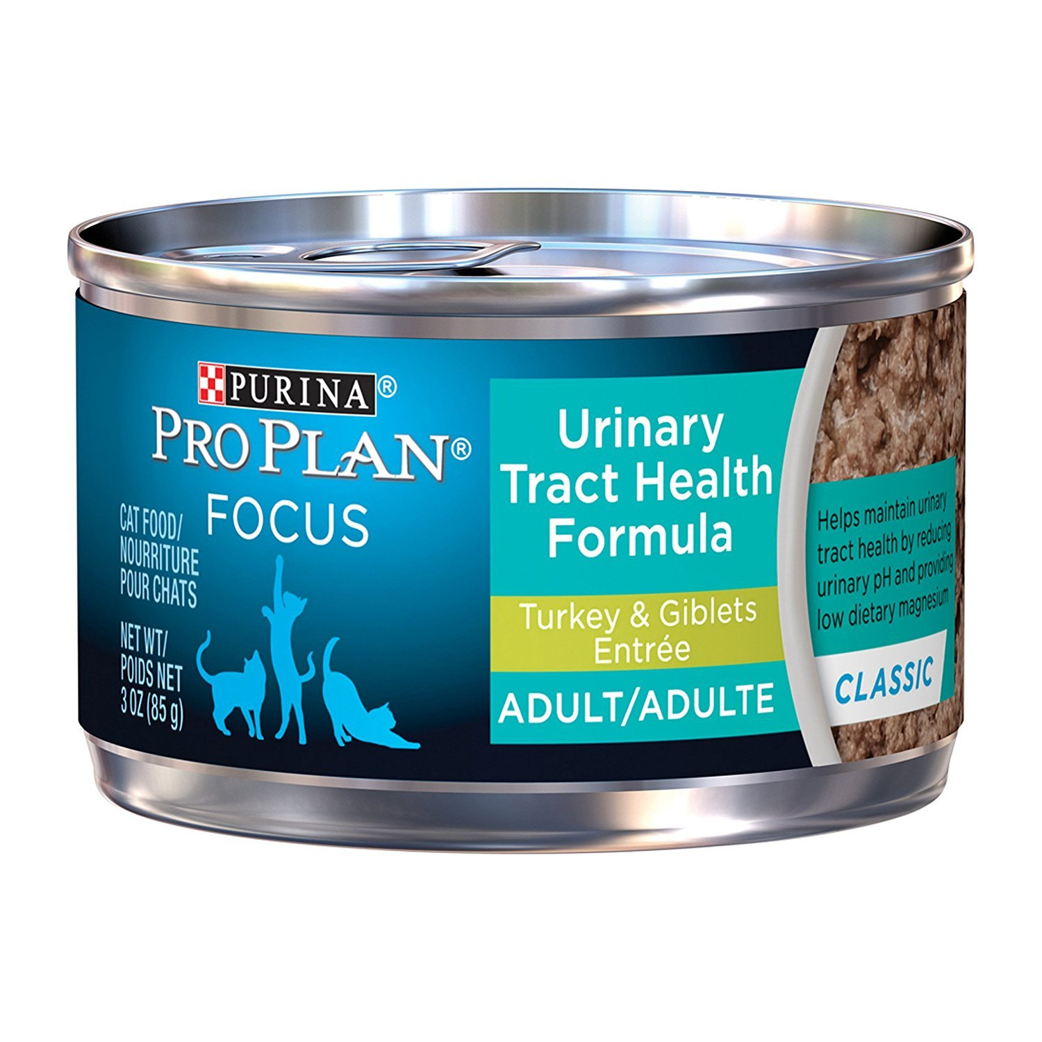 Purina Pro Plan Focus Adult Urinary Tract Health Formula Turkey & Giblets Entree Cat Food, 3 oz EkerVH, 24 Count (3 Pack)