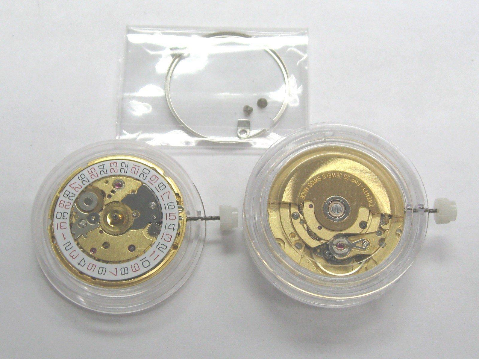 Watch Movement for ETA 2824-2 Auto Swiss Made Date Gold, 3h Gold