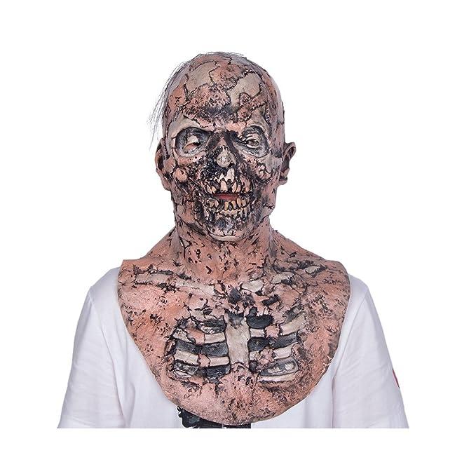 Amazoncom The Walking Dead Zombie Mask Scary Mask Halloween - Mascaras-de-halloween-de-terror