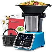 Mellerware - Robot de Cocina Tasty! Capacidad 3.5L Temperatura hasta 120ºC. Temporizador. 12 velocidades + TURBO…
