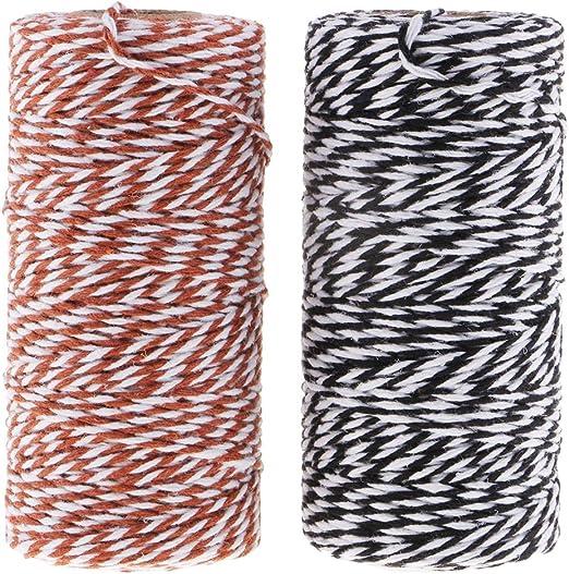 IPOTCH 2 Piezas Carretes Cuerda de Algodón Hilo Decorativo Hilos ...