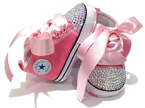 466384d0dda16 SCARPE SCARPINE STRASS 3-6 MESI BIMBA NEONATA ROSA con CRISTALLI AURORA  BOREALE   Baby Shoes Pink Birthday Party Events Wedding Gift Rhinestone  Crystal AB ...