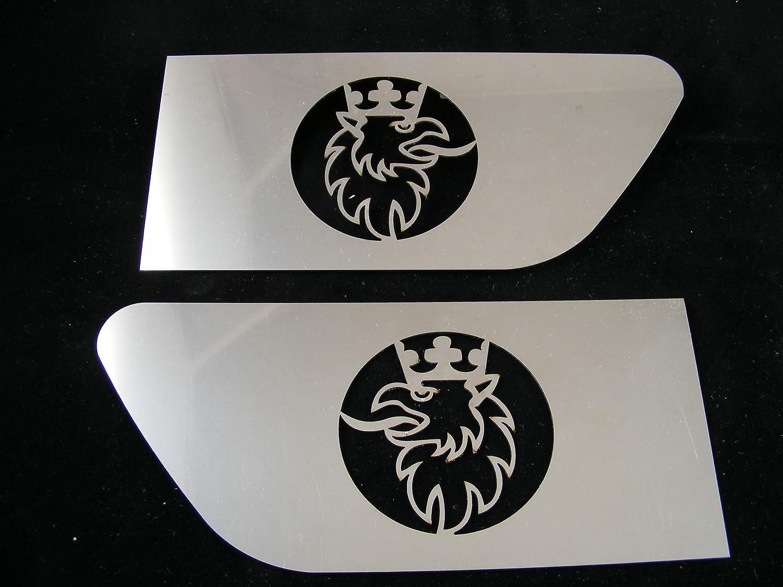 Griffin alerón de ala decoración hecho de espejo de acero inoxidable pulido para SCANIA Truck Trucker Sign Logo Accesorios