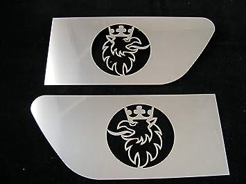 2 Unidades. Griffin Alerón de ala decoración Hecho de Acero Inoxidable Pulido Espejo para Camiones