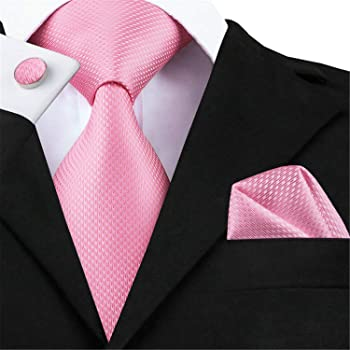 hombre Corbatas Pink White Mens Ties Set Gravatas Plaid Corbata ...
