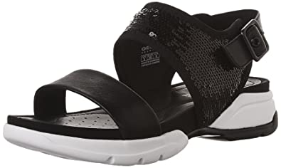 Sandales, color Noir , marca GEOX, modelo Sandales GEOX D SANDAL SFINGE Noir
