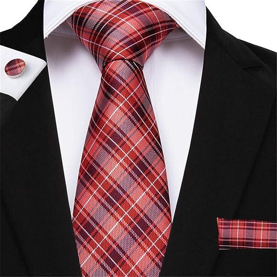 hombre Corbatas Corbata para hombre con mancuernas de pañuelo ...