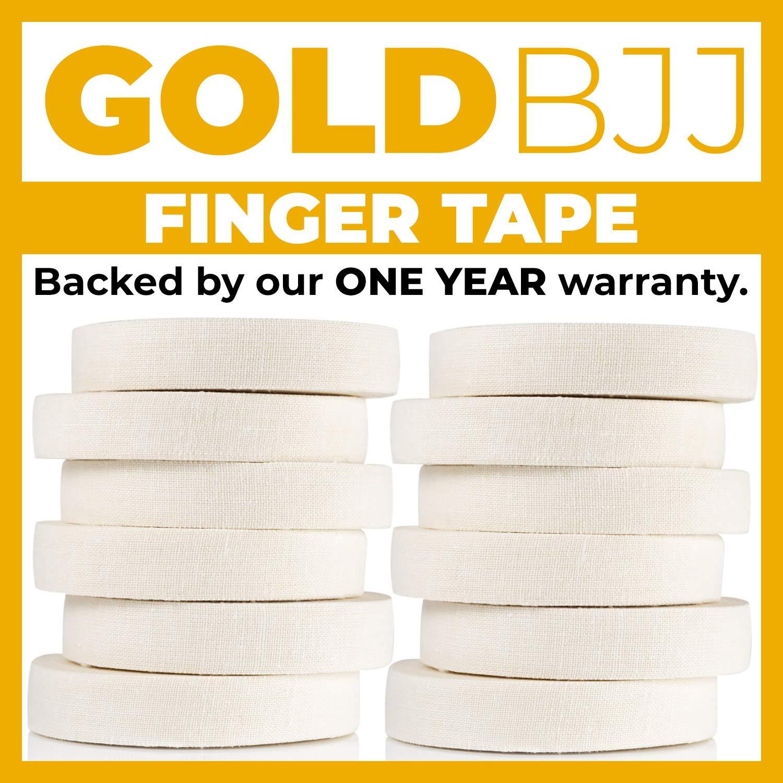 Gold BJJ Jiu Jitsu Tape Crossfit 1//2 x 30 Rock Climbing Martial Arts MMA Protect Fingers in Judo Strong Athletic Finger Tape