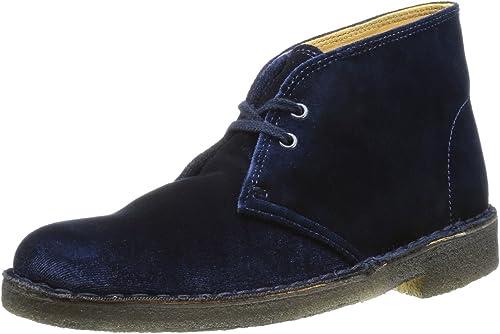 Clarks Desert Boot Polacchine Donna, Blu Blau (Blue