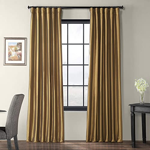 HPD Half Price Drapes PTCH-JTSP206-96 Faux Silk Taffeta Curtain 1 Panel