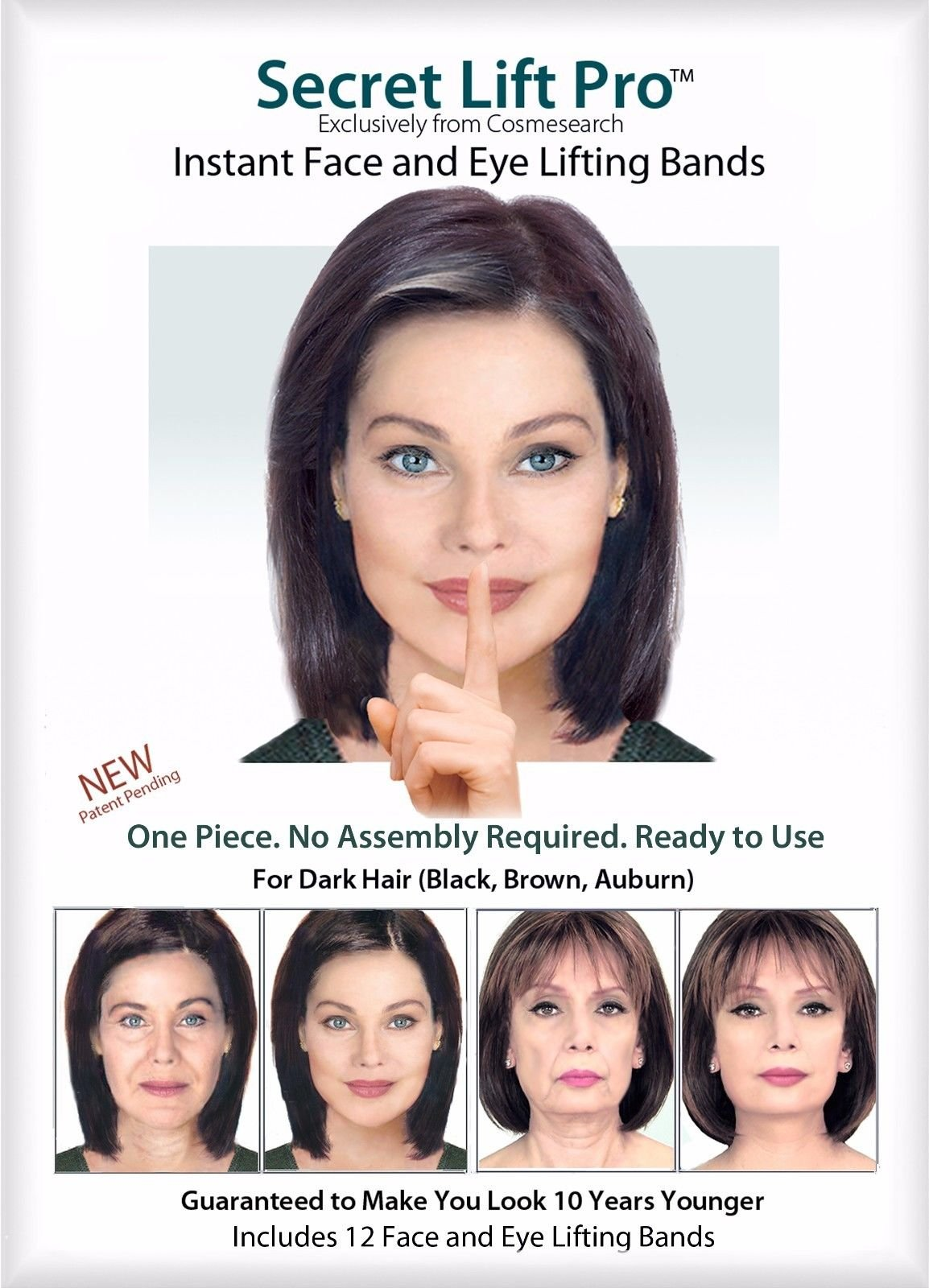 Secret Lift Pro - Face and Eye Lift (Dark Hair)