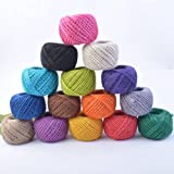 Accreate 50M Eco-Friendly Natural Twisted Colourful