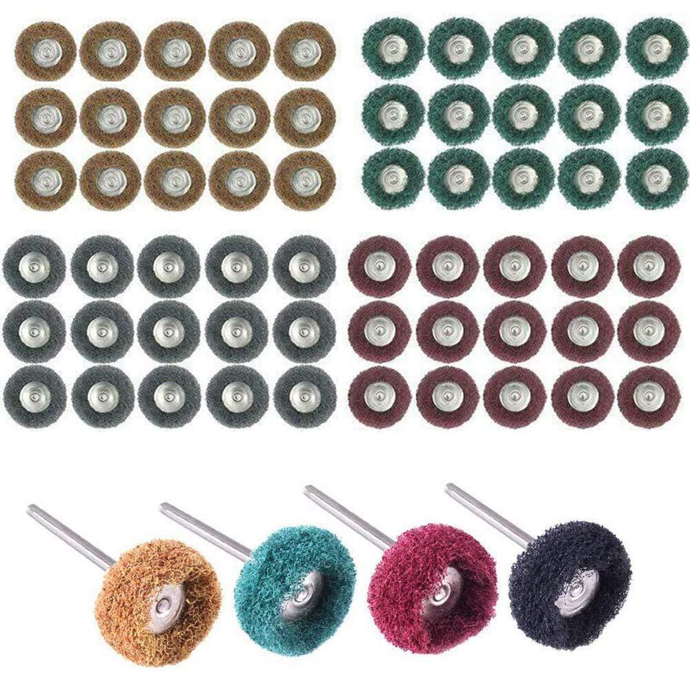 60 piezas 2.5cm rueda pulido para Dremel Rotary Tool