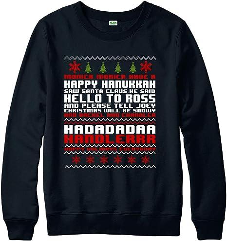 Spoofy Clothing Christmas Jumper, Friends Monica Geller Happy Hanukkah Festive Gift Jumper Top