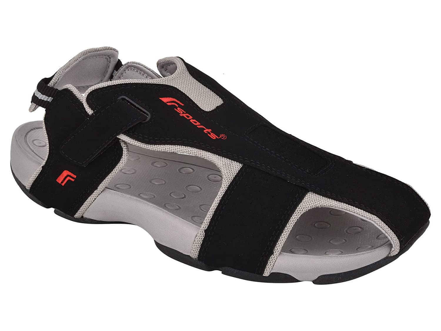 5c359a64aec16a Fsports SP4 Series Black Casual Sandal for Men  Buy Online at Low Prices in  India - Amazon.in